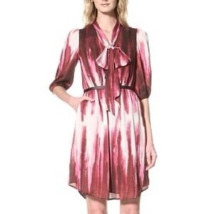 NWT Vince Camuto Belted Dress - Pink Autumn Flame
